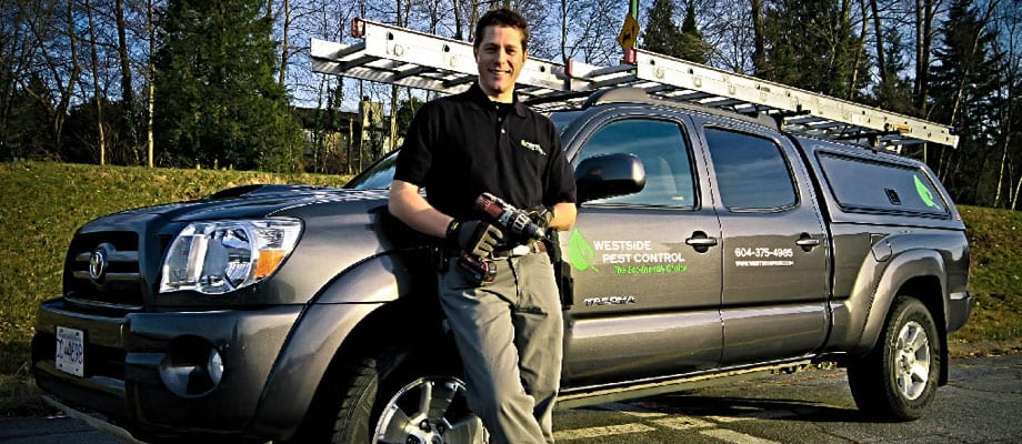 westside pest control truck in Surrey BC