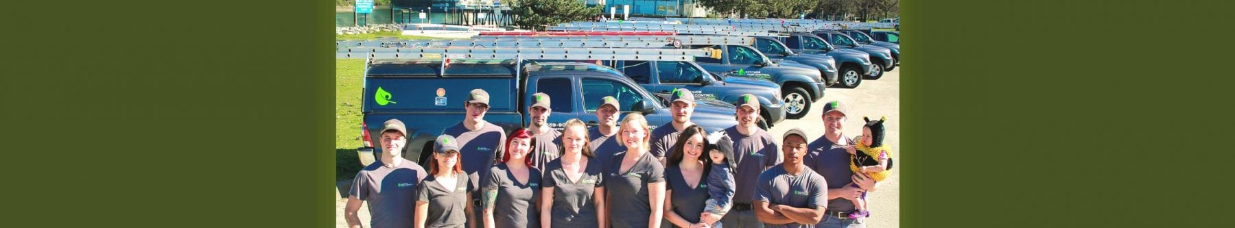 Westside Pest Control Staff and Trucks