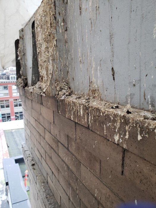 Pigeon Droppings Before Clean-up in Vancouver - Westside Pest Control